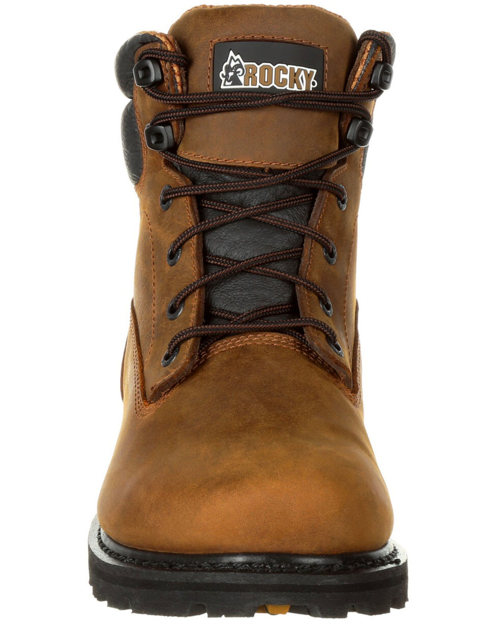 "Rocky Men's Governor Waterproof 6"" Work Boots - Safety Toe, Brown, hi-res"