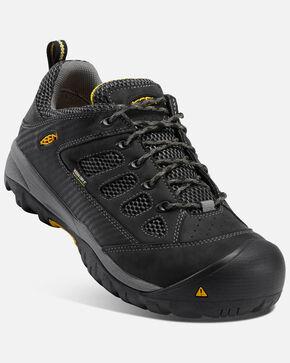 Keen Men's Tuscon Waterproof Work Shoes - Steel Toe, Black, hi-res