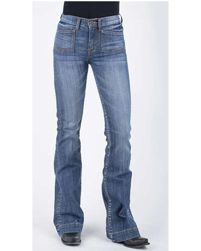 Stetson Women's 921 High Waist Flare Jeans , Blue, hi-res