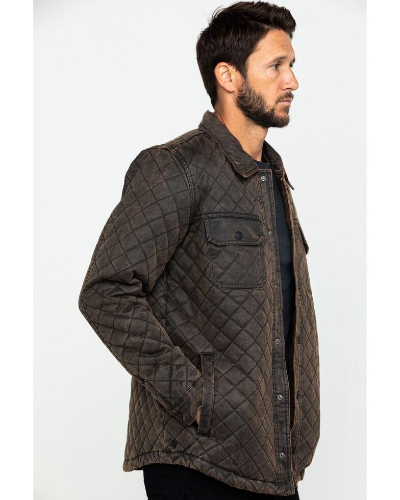 Moonshine Spirit Men's Rockwell Oil Skin Shirt Jacket , Brown, hi-res