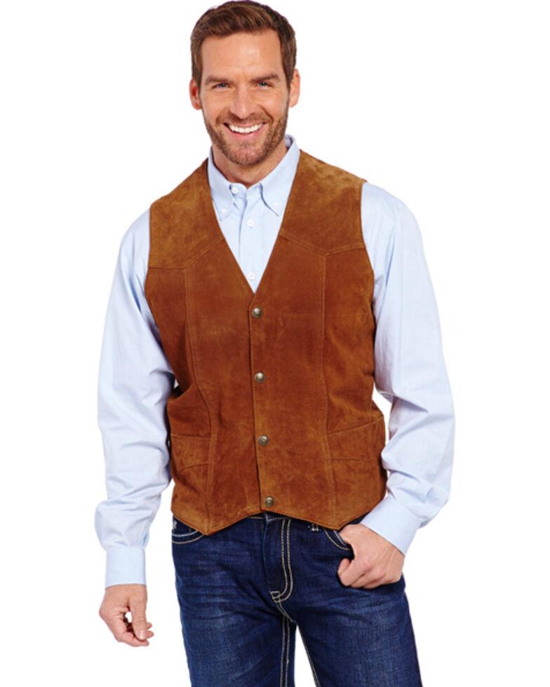 Cripple Creek Men's Suede Leather Vest, Cognac, hi-res