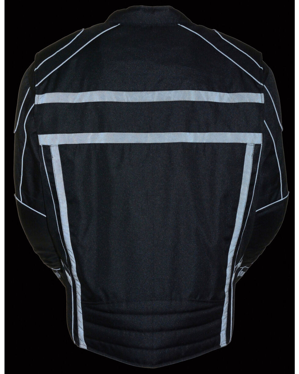 Milwaukee Leather Black Vented Reflective Jacket - Big 3X , Black, hi-res