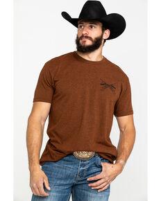 Cody James Men's Born & Raised Graphic T-Shirt , Rust Copper, hi-res
