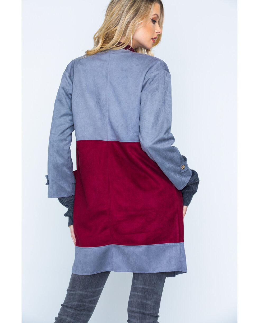 Polagram Women's Grey Two Tone Jacket , Grey, hi-res