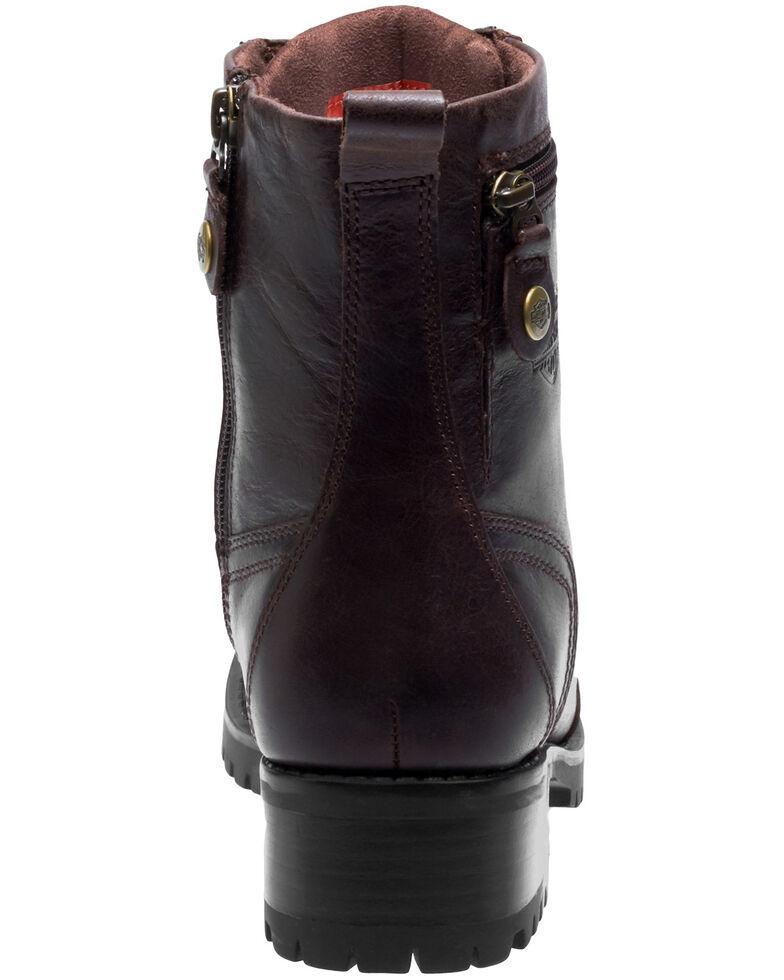 Harley Davidson Women's Keeler Moto Boots - Round Toe, Brown, hi-res