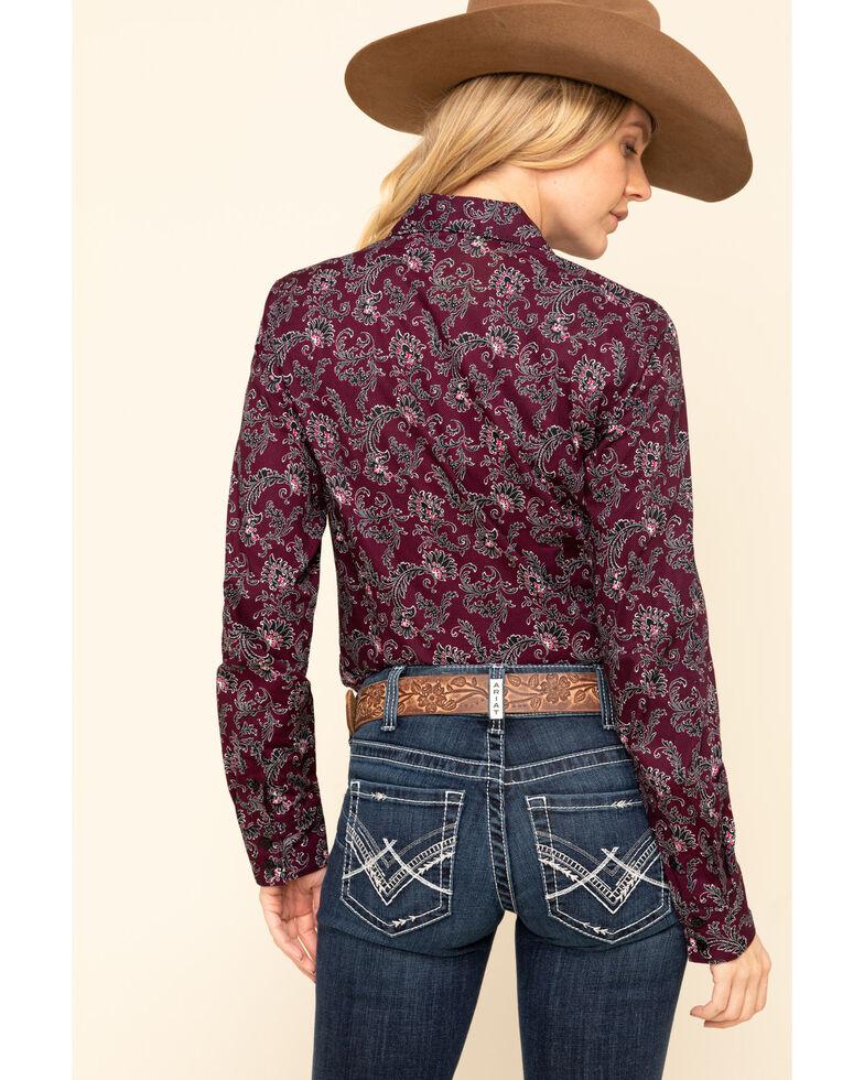 Cinch Women's Floral Paisley Button Long Sleeve Western Shirt, Multi, hi-res