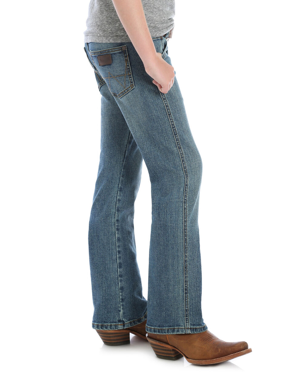 Wrangler Retro Toddler Boys' Panola Relaxed Boot Jeans , Medium Blue, hi-res