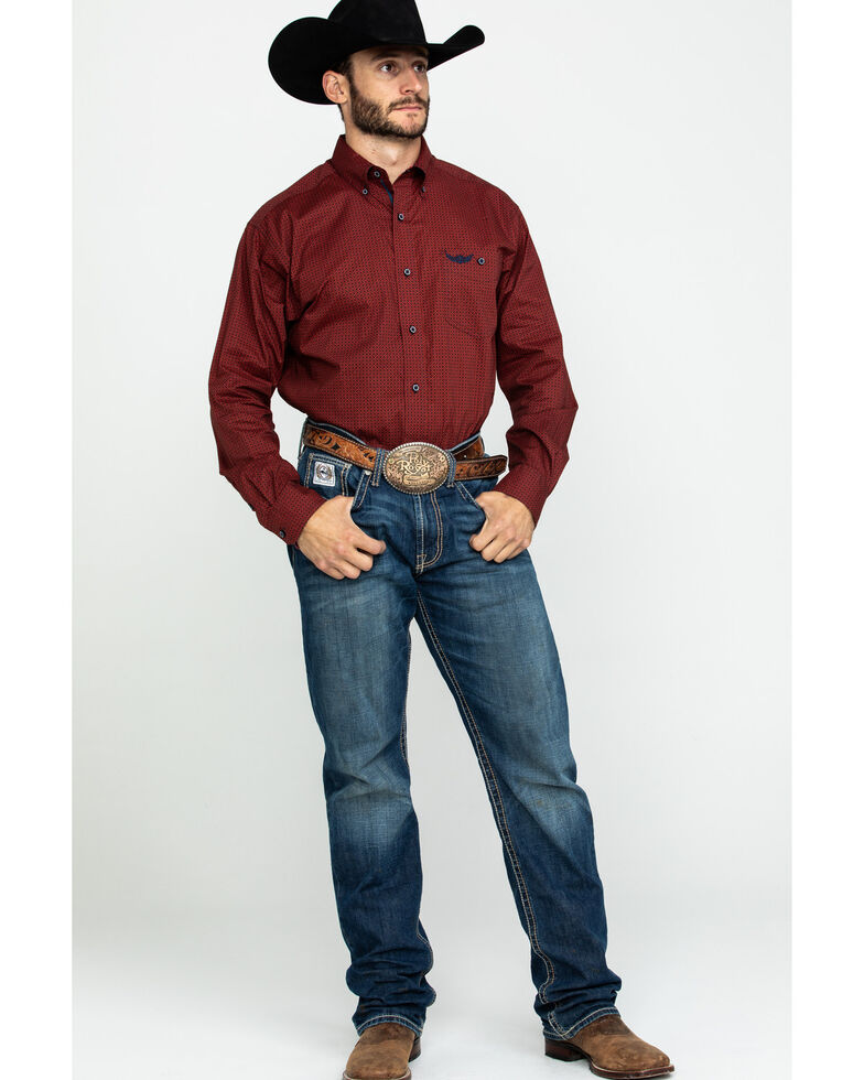 Ariat Men's Performance Geo Print Long Sleeve Western Shirt, Multi, hi-res