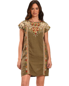 Johnny Was Women's Aliya Shift Tunic Dress, Green, hi-res