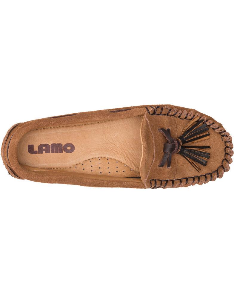 Lamo Women's Leah Tasseled Moccasins - Moc Toe, Chestnut, hi-res
