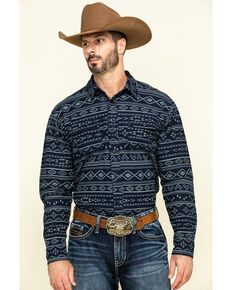 Ariat Men's Folister Retro Aztec Print Long Sleeve Flannel Shirt , Multi, hi-res