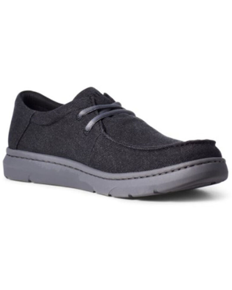Ariat Men's Hilo Charcoal Casual Shoes - Moc Toe, Charcoal, hi-res
