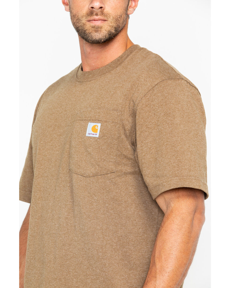 Carhartt Men's Workwear Pocket T-Shirt, Brown, hi-res