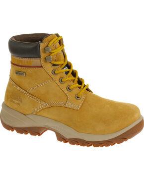 """CAT Women's Dryverse 6"""" Waterproof Steel Toe Work Boots, Honey, hi-res"""