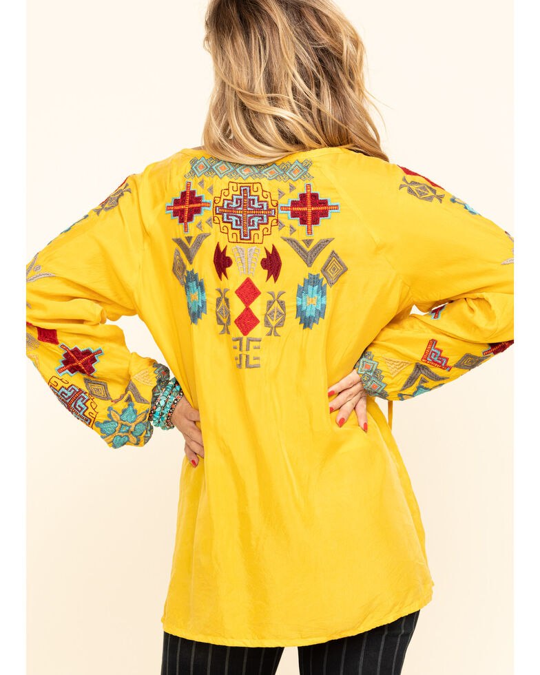 Johnny Was Women's Gold Ziggy Curpa Blouse, Gold, hi-res