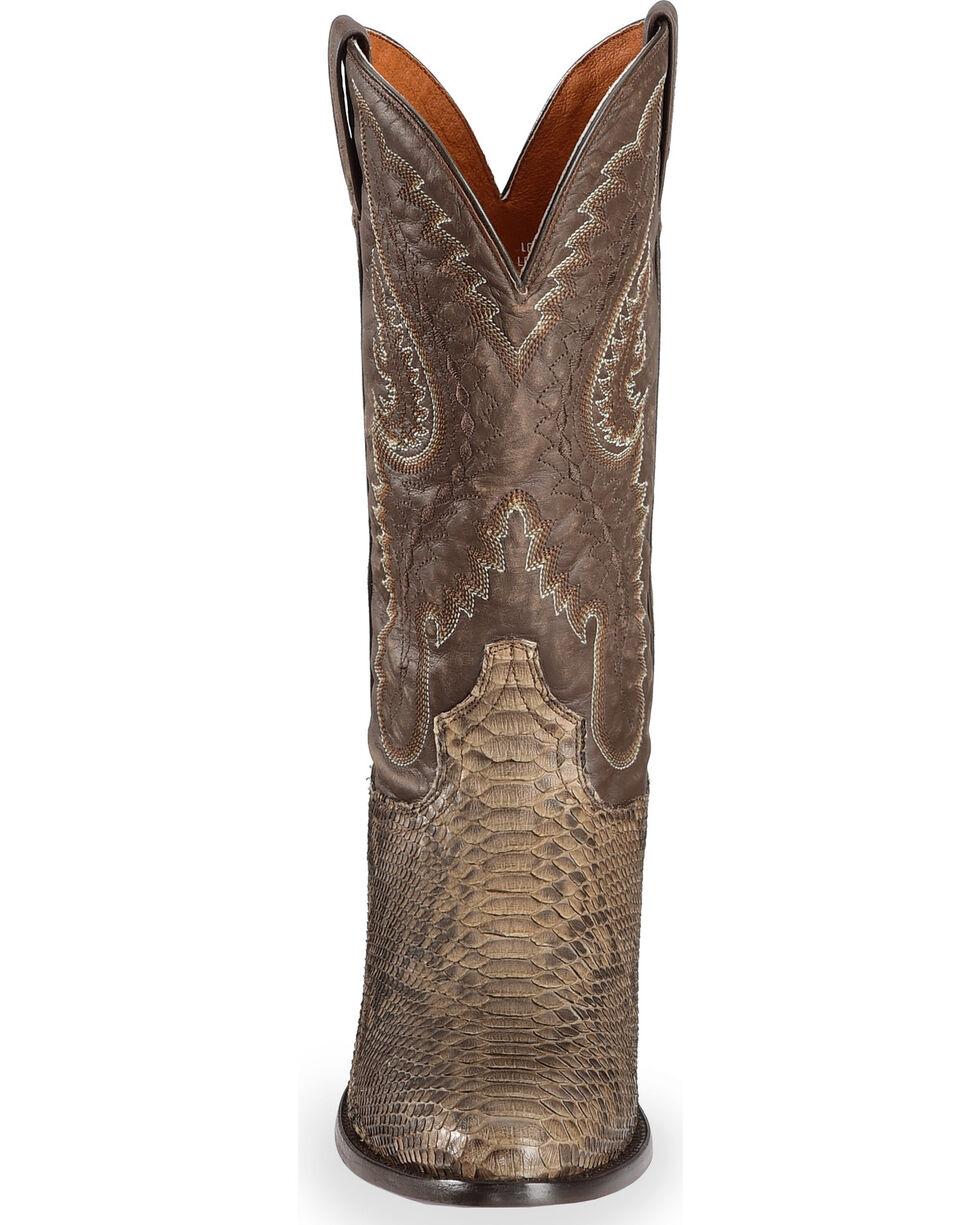 Dan Post Omaha Python Cowboy Boots - Medium Toe , Brown, hi-res