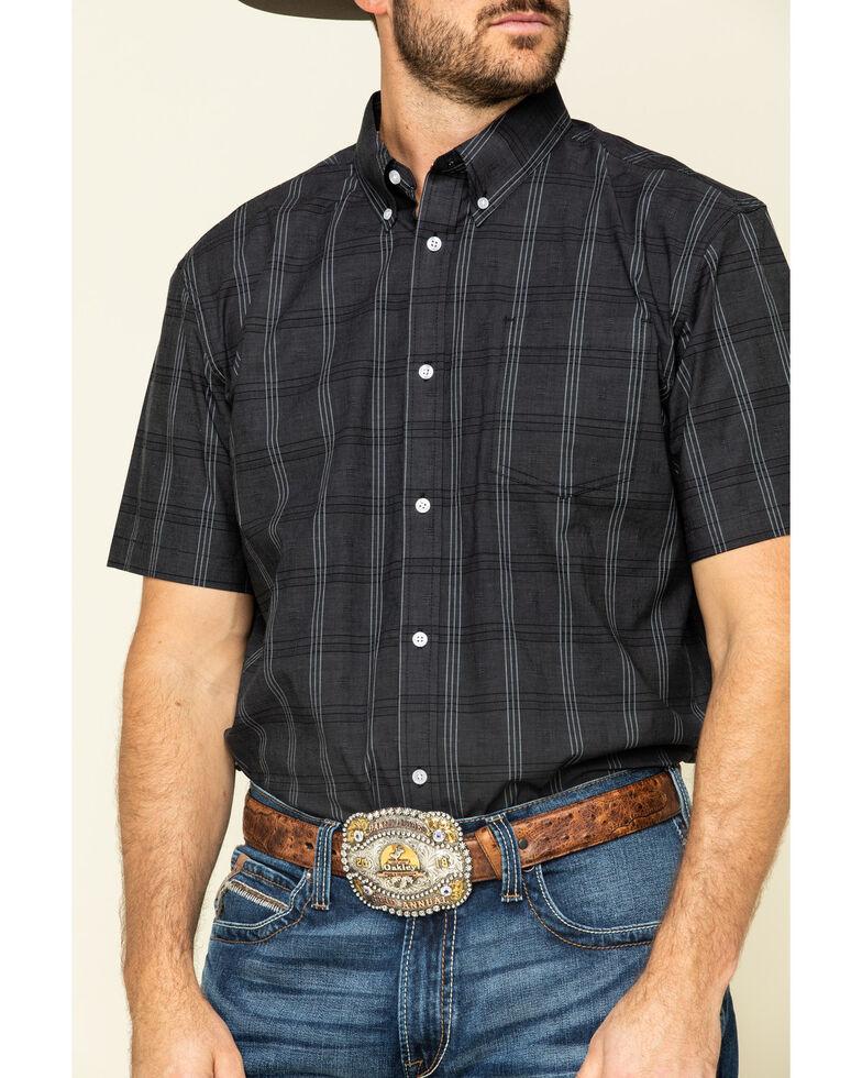 Cody James Core Men's Make It Pay Large Plaid Short Sleeve Western Shirt - Big , Black, hi-res
