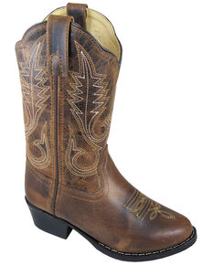 Smoky Mountain Youth Girls' Annie Western Boots - Round Toe, Brown, hi-res