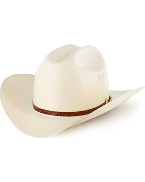 Milano Hat Co. Men's Larry Mahan 15X El Primero Straw Hat, Natural, hi-res