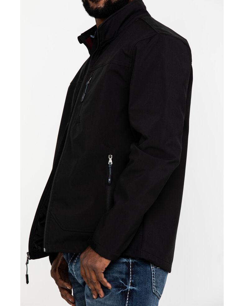 Cody James Core Men's Black Embroidered Steamboat Bonded Jacket , Black, hi-res