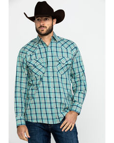 Resistol Men's Uptmore Multi Small Plaid Long Sleeve Western Shirt , Multi, hi-res