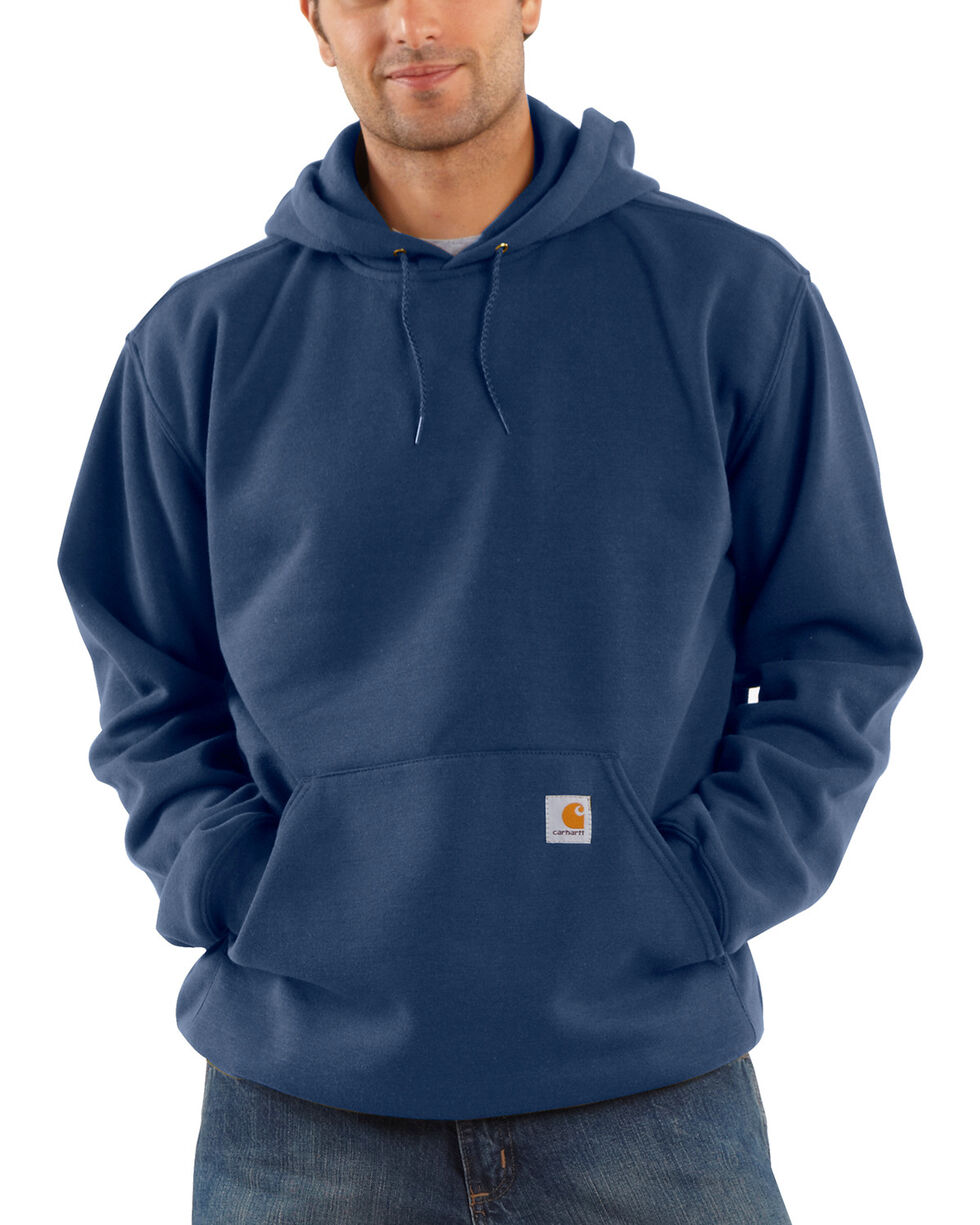 Carhartt Midweight Hooded Pullover Sweatshirt, Dark Blue, hi-res