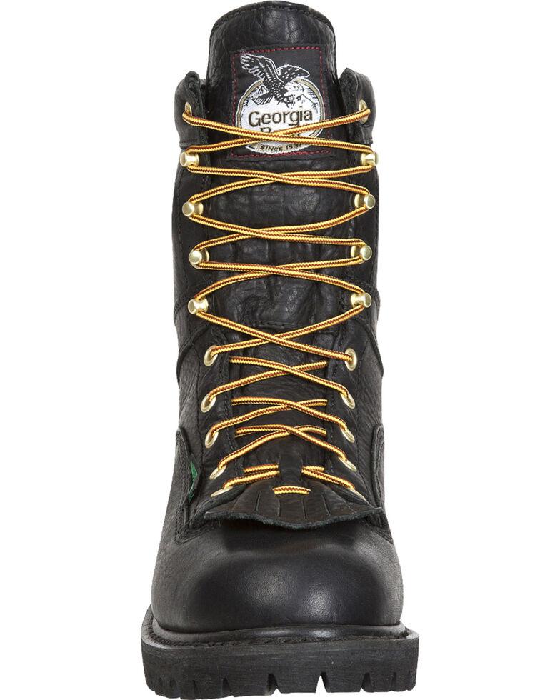 Georgia Men's Waterproof Logger Boots, Black, hi-res