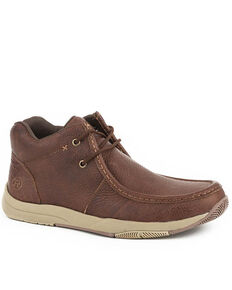 Roper Men's Clearcut Brown Casual Shoes - Moc Toe, Brown, hi-res
