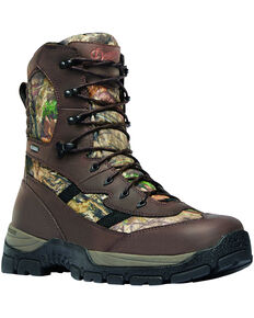 """Danner Men's Mossy Oak Alsea 8"""" Lace Up Waterproof 1000G Insulated Boots - Round Toe, Camouflage, hi-res"""