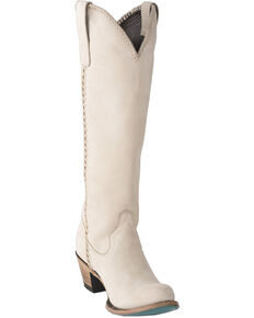 Lane Women's Plain Jane Western Boots - Round Toe, Ivory, hi-res