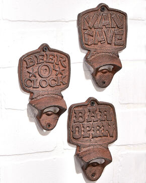 Giftcraft Cast Iron Wall Mount Bottle Opener , Brown, hi-res