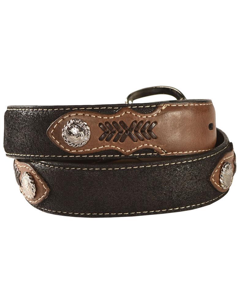 Nocona Belt Co. Boy's Aztec Print Belt, Black, hi-res