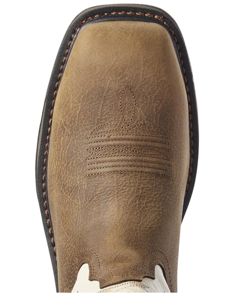 Ariat Men's Cream Workhog Western Work Boots - Composite Toe, Brown, hi-res