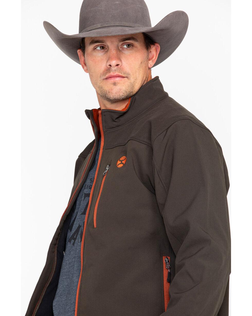 HOOey Men's Brown Softshell Jacket, Brown, hi-res