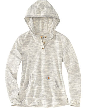 Carhartt Women's Cream Norwalk Hoodie Shirt Jacket, Cream, hi-res