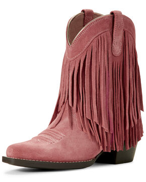 Ariat Youth Girls' Gold Rush Western Boots - Snip Toe, Pink, hi-res