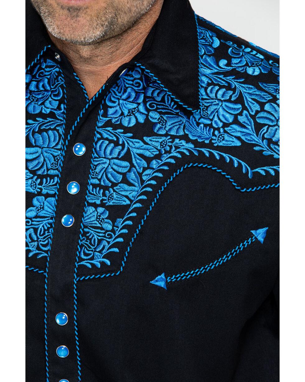 Scully Men's Western Woven Gunfighter Royal Shirt, , hi-res