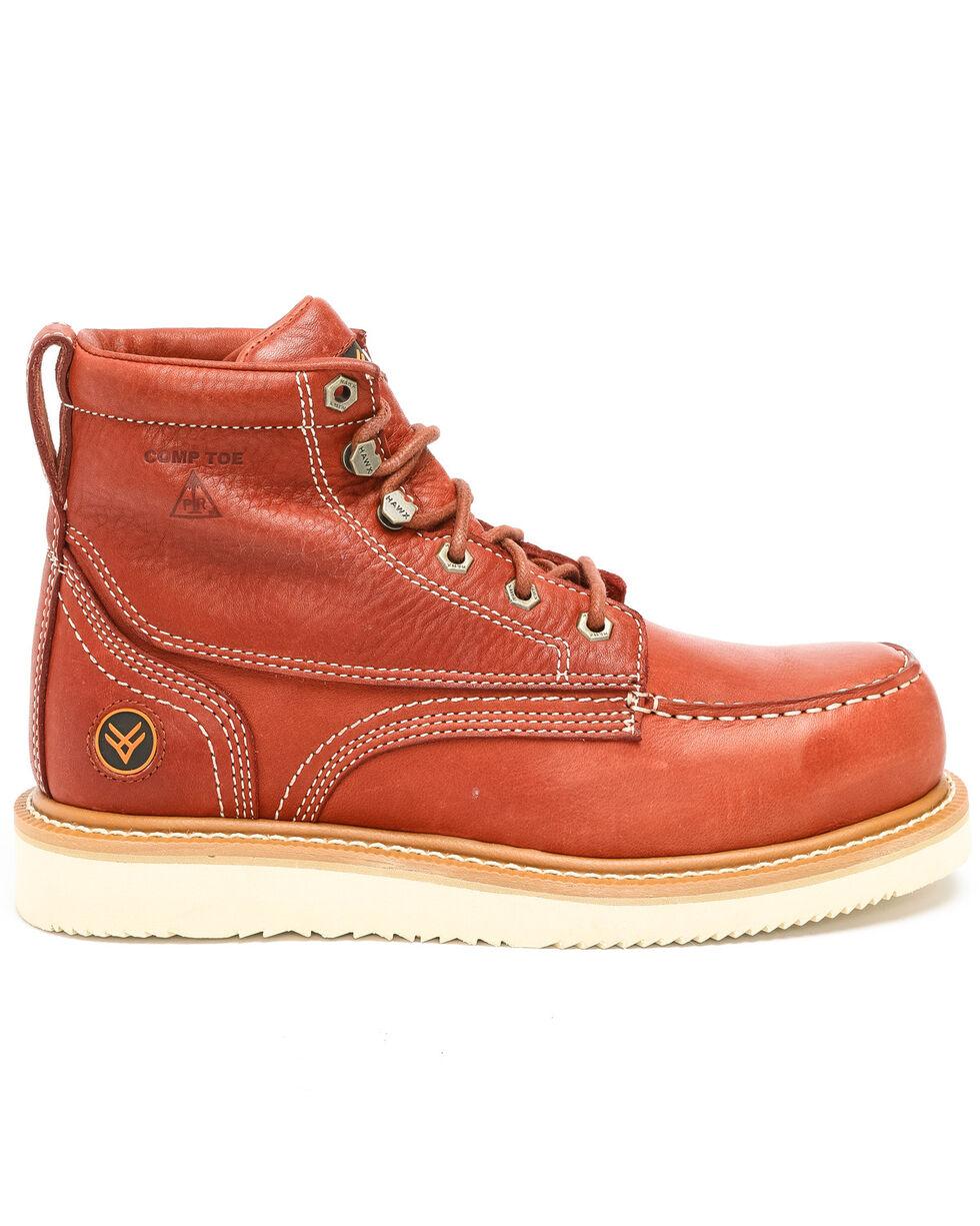 Hawx® Men's Grade Moc Wedge Work Boots - Composite Toe, Red, hi-res