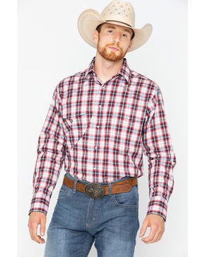 Wrangler Wrinkle Resist Long Sleeve Shirt - Big & Tall , Red, hi-res