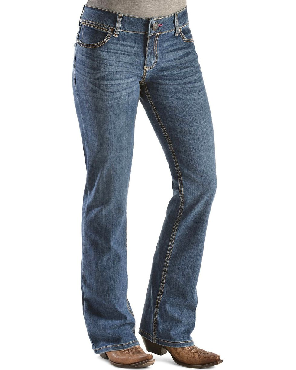 Wrangler Women's Premium Patch Mae Booty Up Jeans, Denim, hi-res