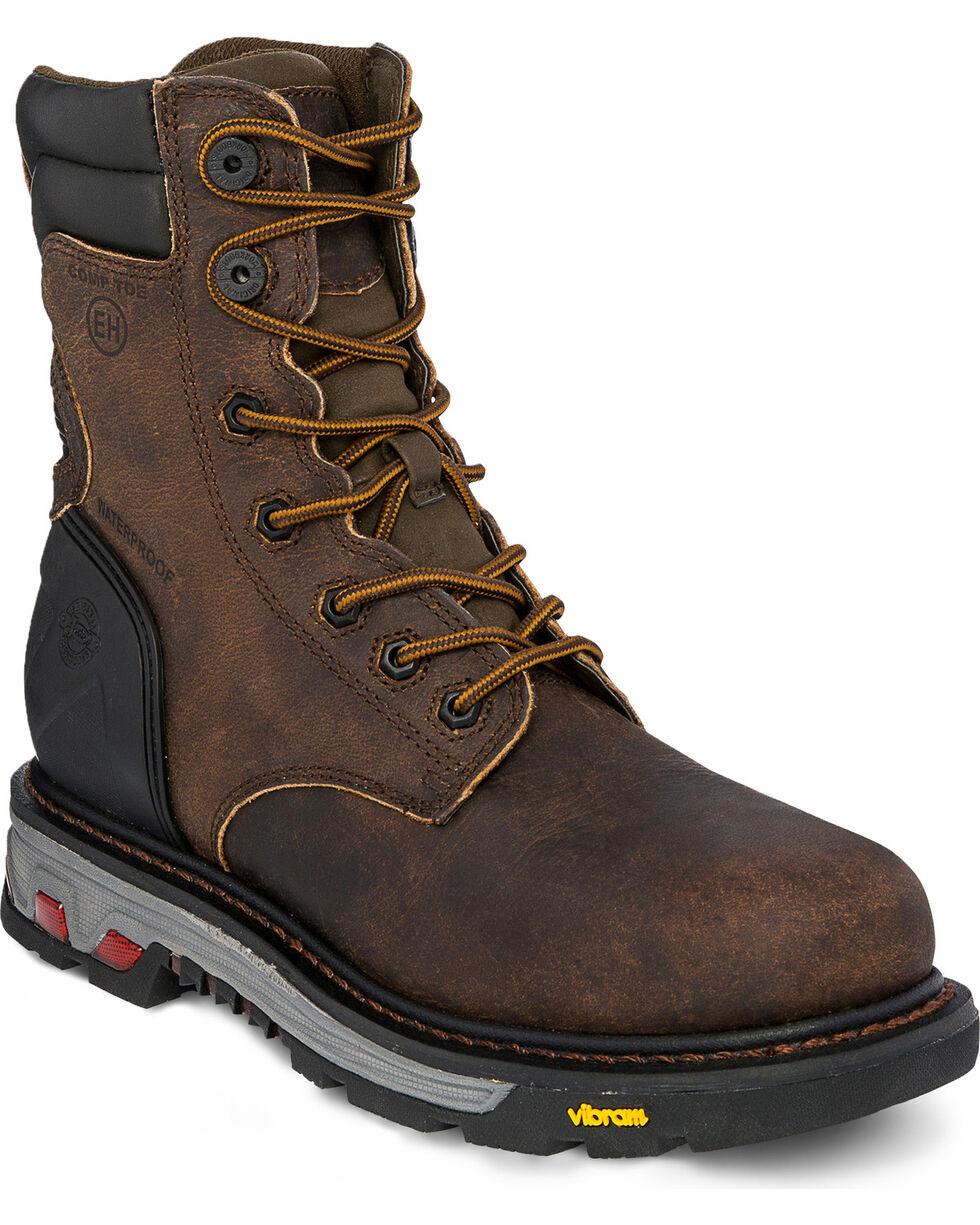 Justin Men's Drywall Waterproof Composite Toe Work Boots, Brown, hi-res