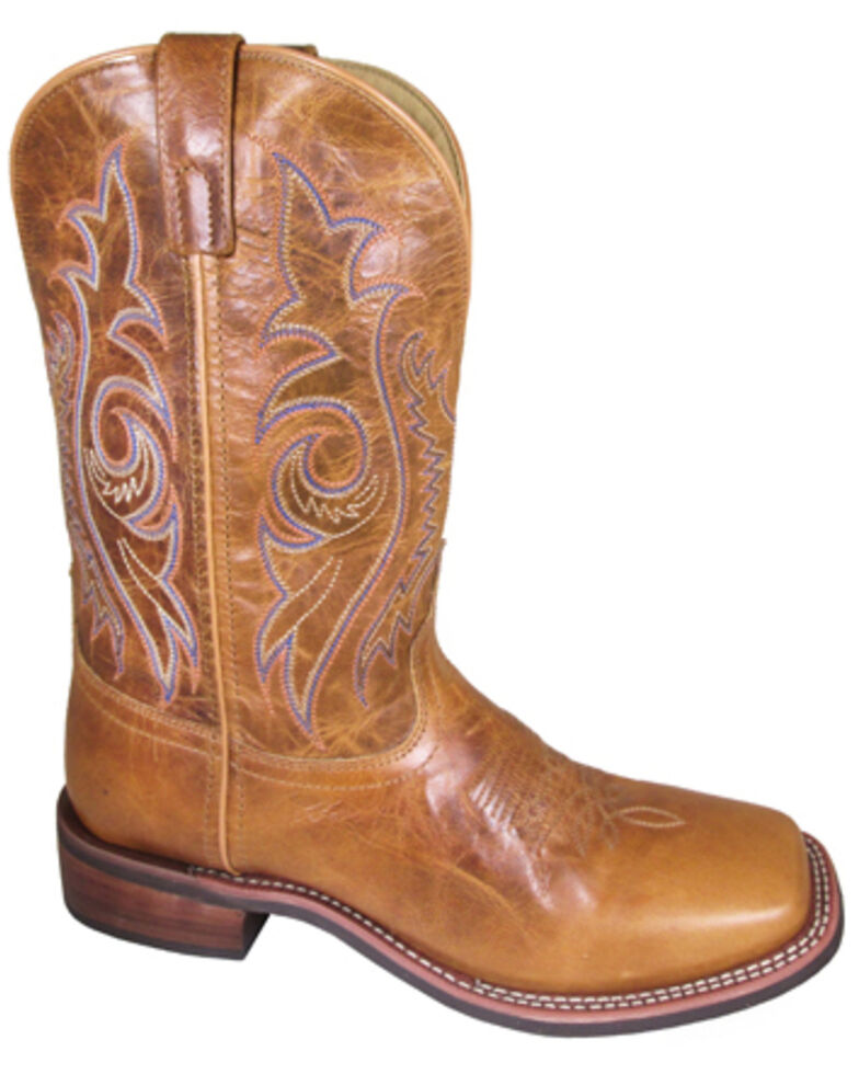 Smoky Mountain Men's Knoxville Western Boots - Wide Square Toe, Tan, hi-res