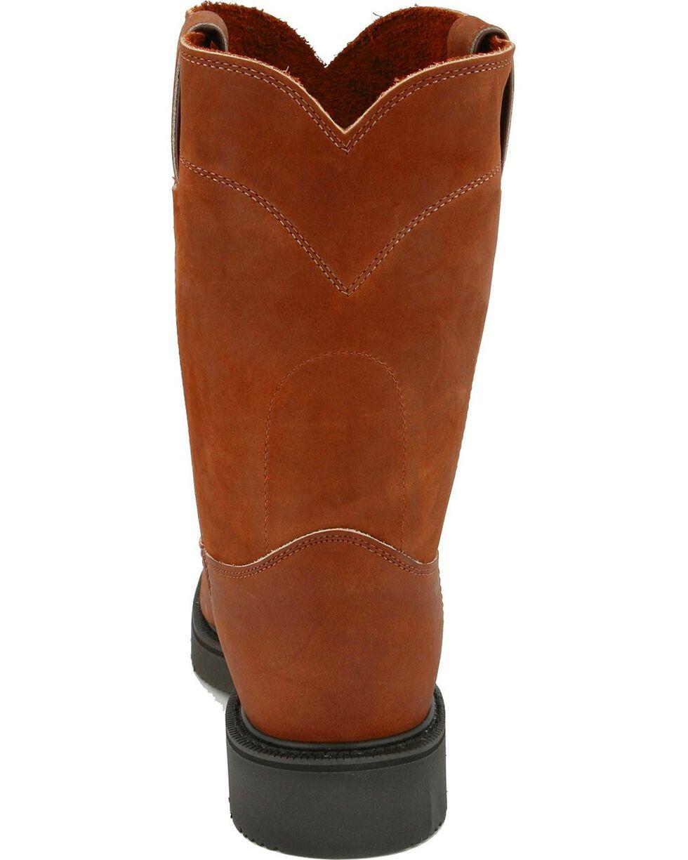 "Justin Men's Original 10"" Pull-On Work Boots, Bark, hi-res"