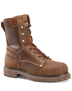 Carolina Men's Unlined 28 Work Boots - Composite Toe, Brown, hi-res