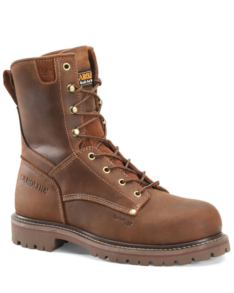 Carolina Men's Unlined 28 Work Boots - Composite Toe, Brown, hi-res