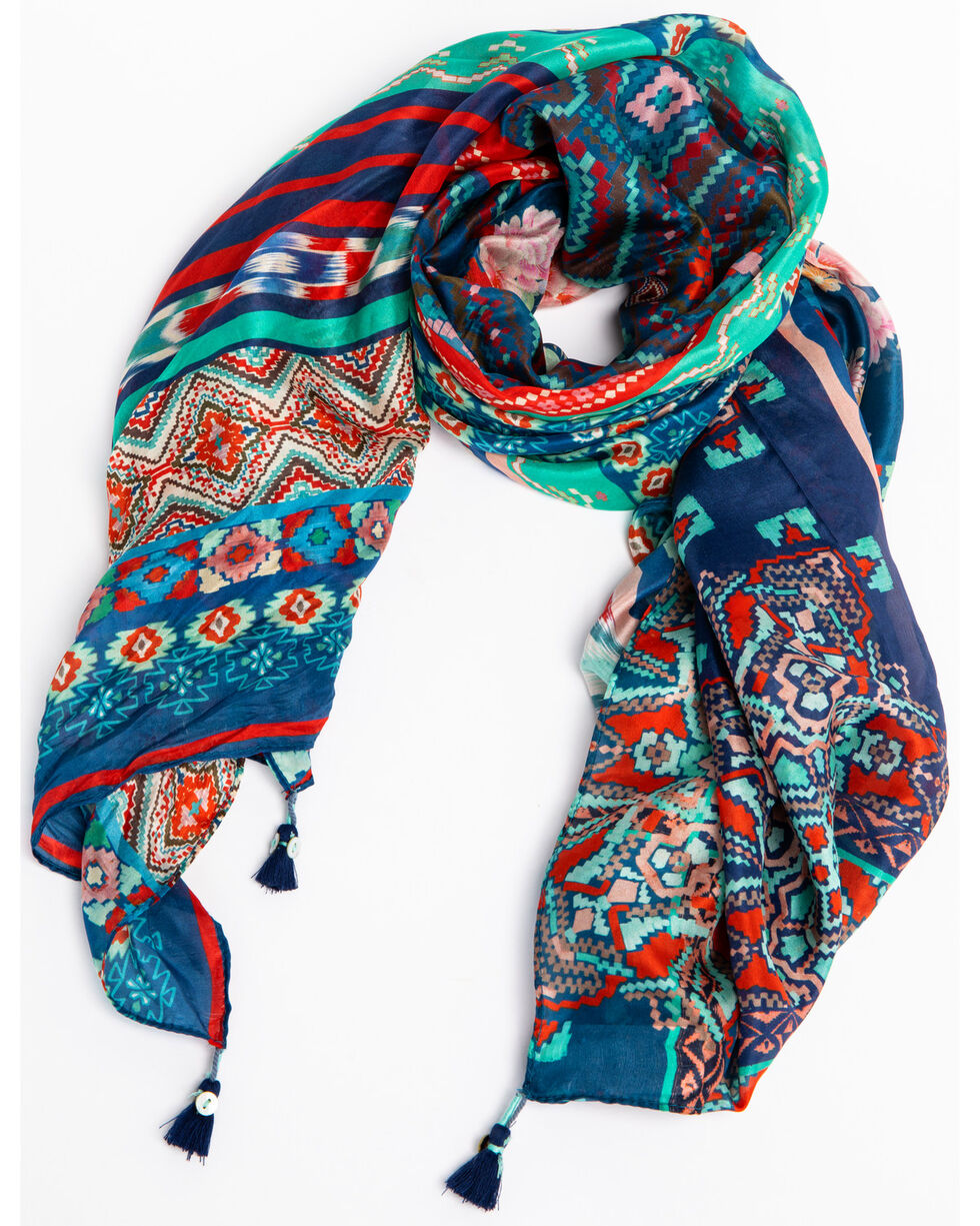 Johnny Was Women's San Jose Silk Scarf, Multi, hi-res