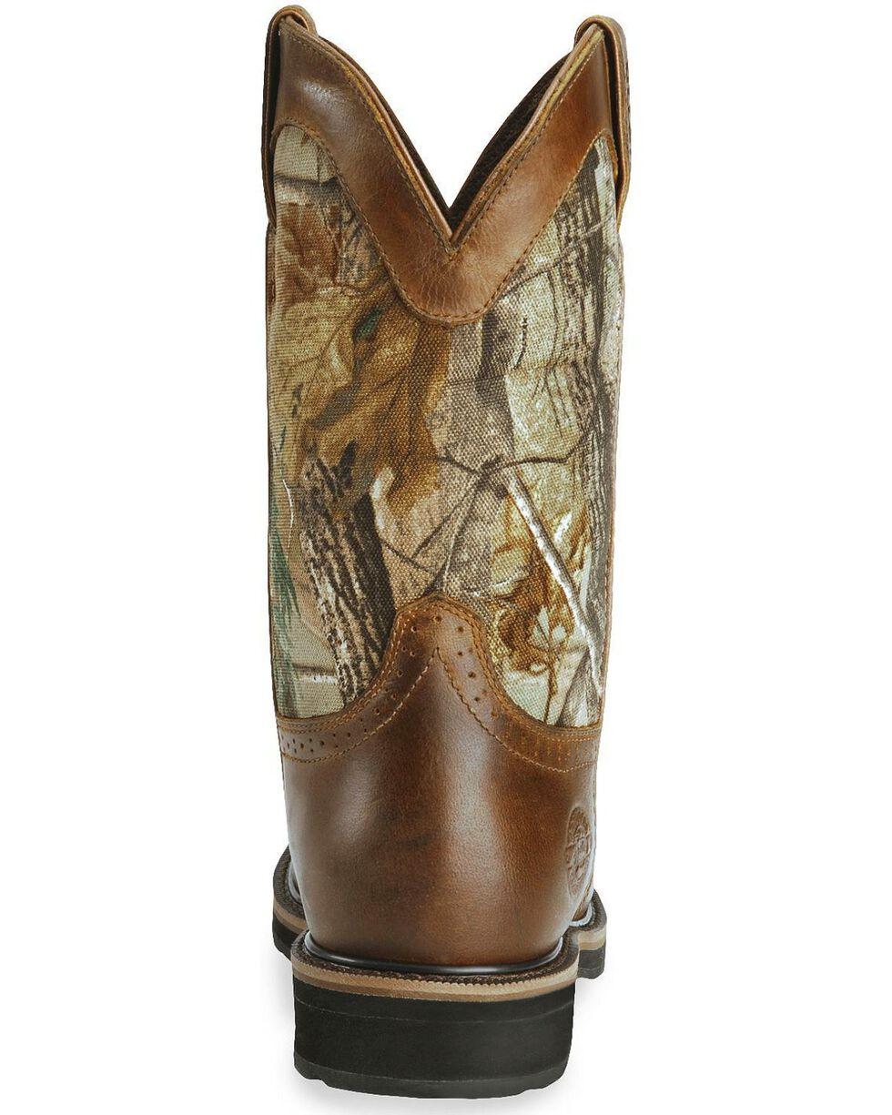 Justin Men's Stampede Waterproof Work Boots, Camouflage, hi-res
