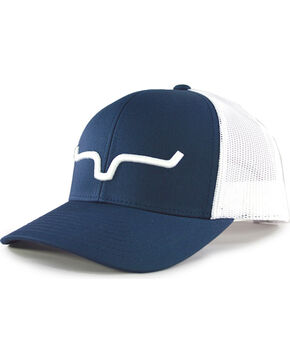 Kimes Ranch Men's Weekly Trucker Cap , Navy, hi-res
