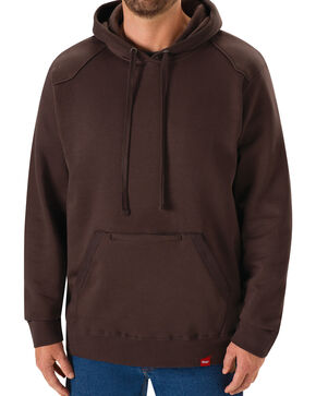 Red Kap Men's Brown Workwear Pull-Over Heavyweight Hoodie, Dark Brown, hi-res