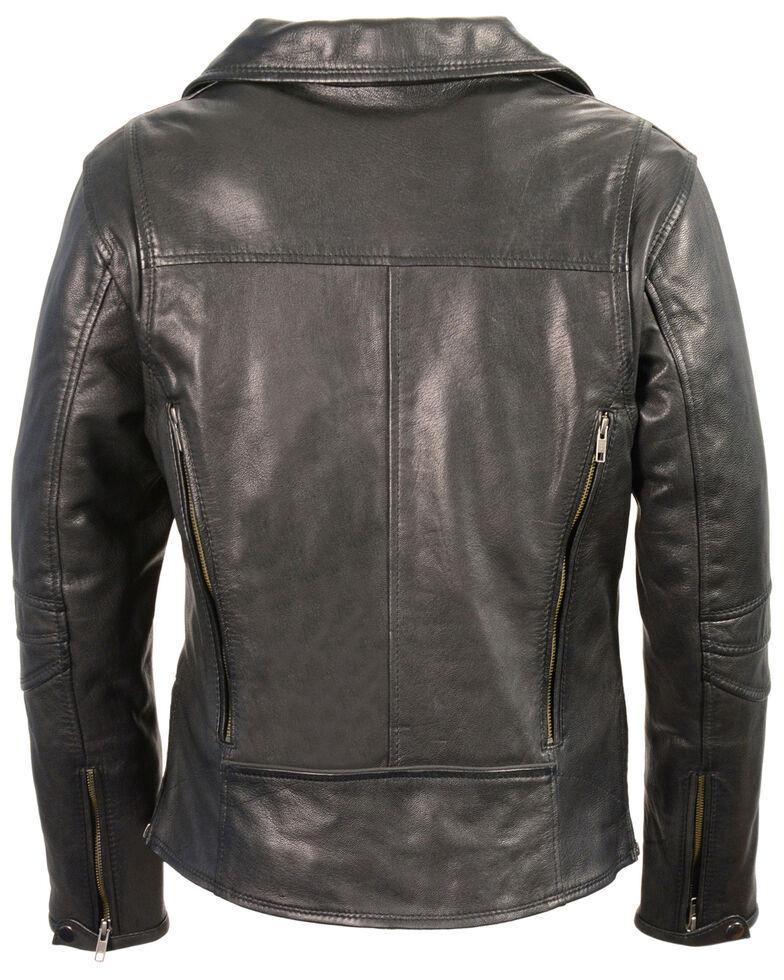 Milwaukee Leather Women's Lightweight Long Length Vented Biker Leather  Jacket - 4X, Black, hi-res